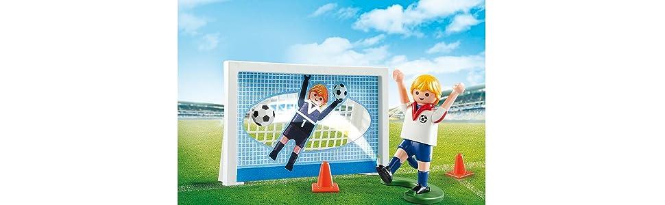 Playmobil Fútbol- Maleta Playmobil Playset, 5,5 x 21 x 16,3 cm (5654): Amazon.es: Juguetes y juegos