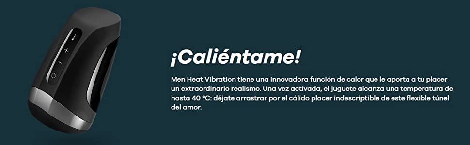 Satisfyer Men Heat Vibration 30 Ml, Negro