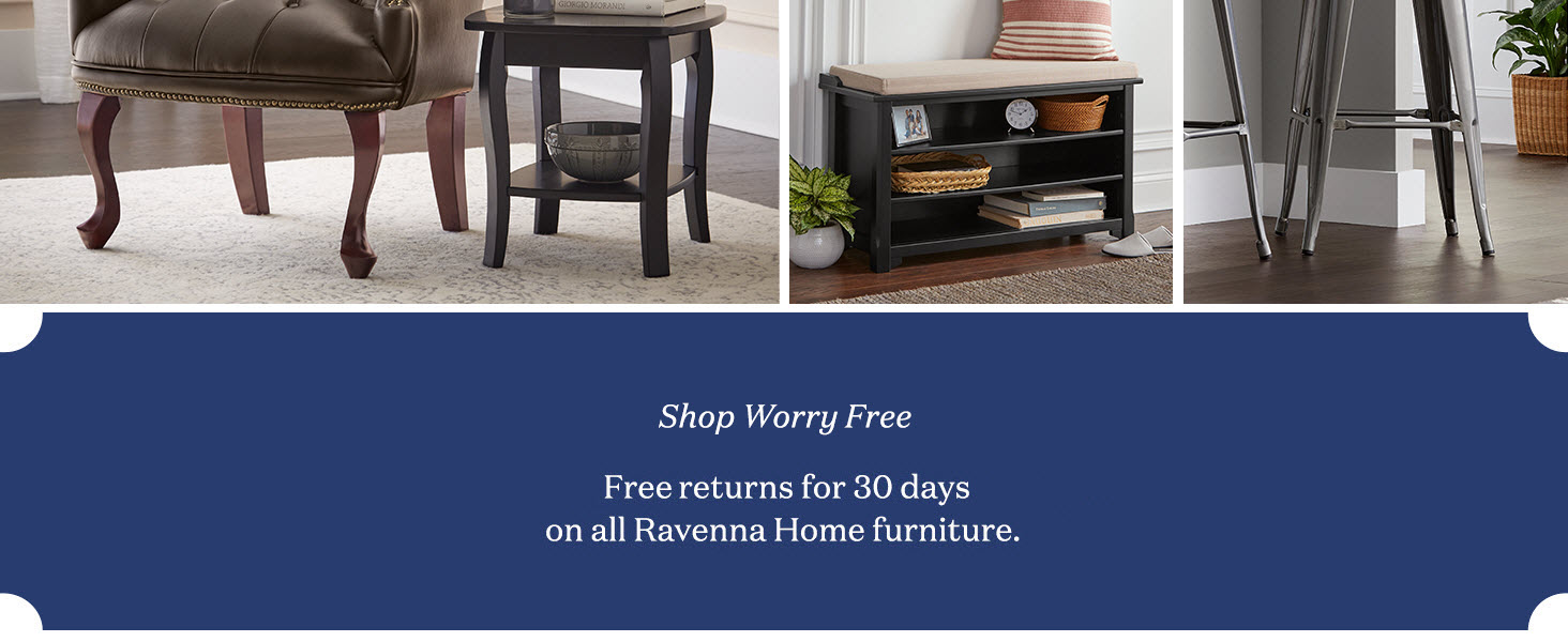 Ravenna Home furniture traditional sofa chair free returns table lamp