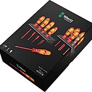 Wera 05105631001 Kraftform Big Pack 100 VDE- Juego de destornilladores, Set 14 Piezas: Amazon.es: Bricolaje y herramientas
