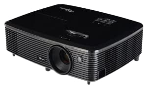 Optoma HD142X - Proyector (3000 lumens, resolución Full HD 1080p, altavoces 2W, HDMI) color negro