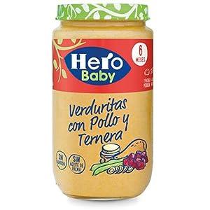 Hero Baby Natur Verduritas con Pollo y Ternera Tarrito de Puré para Bebés a partir de 6 meses Pack de 6 x 235 g: Amazon.es: Alimentación y bebidas