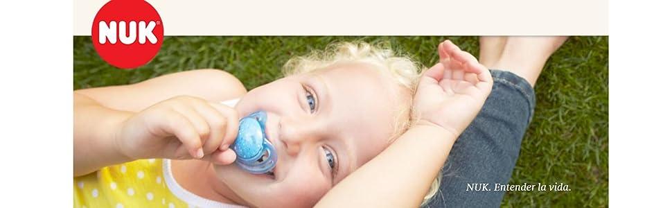 NUK Chupete espacial, en forma de mandíbula, 0-6 meses, silicona, oso y ballena, 2 piezas: Amazon.es: Bebé