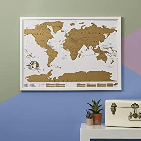 Scratch map original personalised world map poster travel gift scratch map original personalised world map by luckies publicscrutiny Image collections
