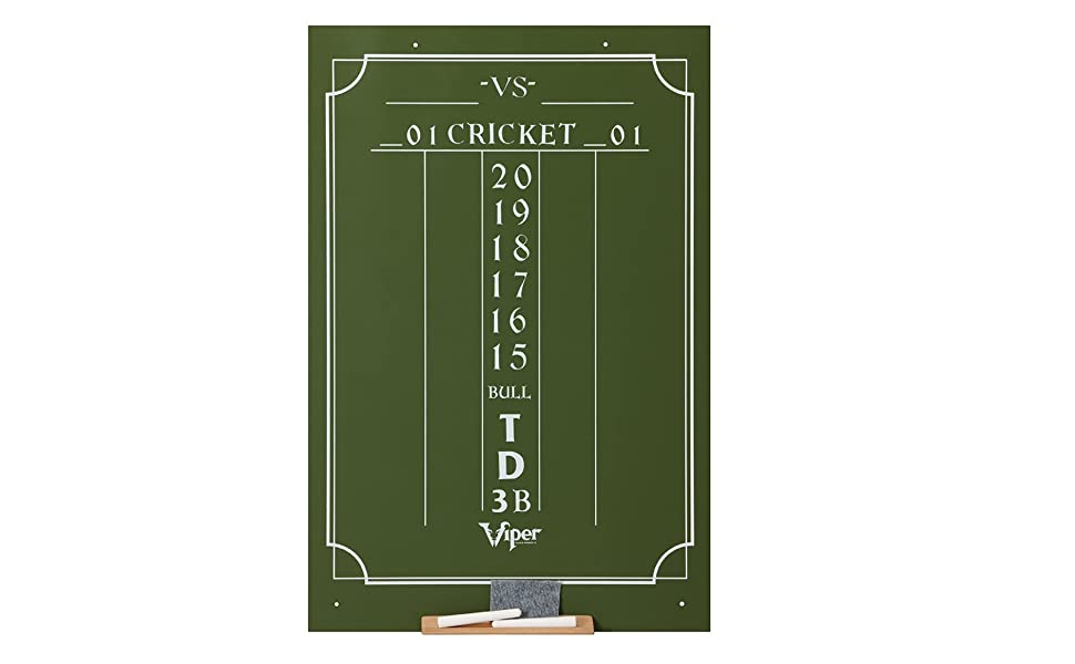 Amazon Com Viper Chalk Scoreboard Cricket And 01 Dart Games Green 23 5 H X 15 5 W Darts Score Chalkboard Sports Outdoors