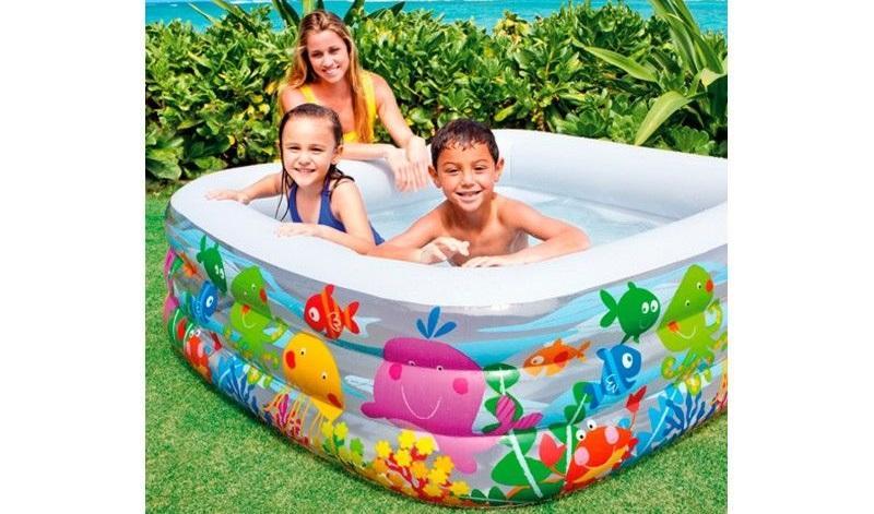 Intex 57471ep piscina hinchable cuadrada jard n - Amazon piscinas hinchables ...