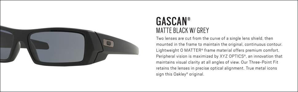 d8a93309696 Amazon.com  Oakley Mens Gascan Sunglasses (OO9014) Black Matte Grey ...