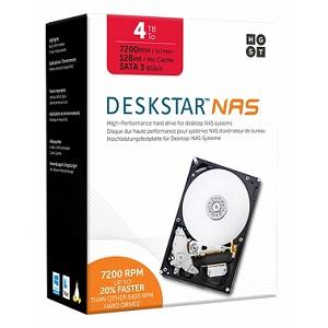 HGST Deskstar NAS 4TB パッケージ版 3.5インチ 7,200rpm 128MB SATA 6Gb/s 3年保証 HDD 0S04005