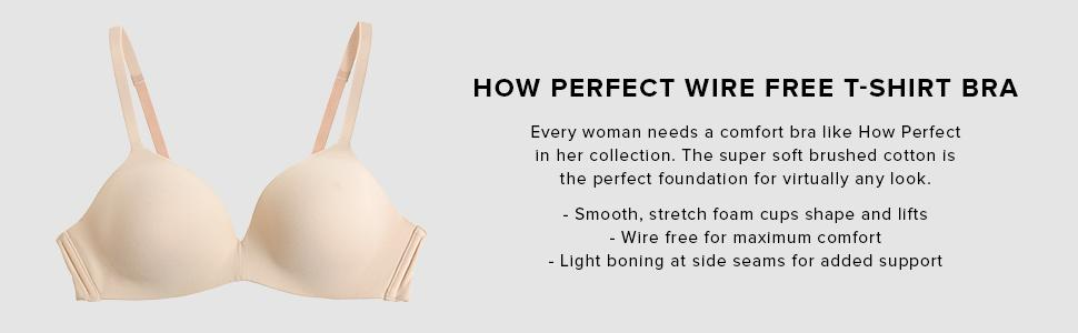 a565105fba Wacoal Women s How Perfect Soft Cup Bra at Amazon Women s Clothing ...