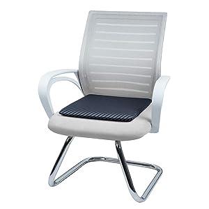Basics Memory Foam Seat Cushion Square Striped