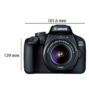 Canon Eos 4000D 18-55mm Camera, Full Hd (1080P), Black