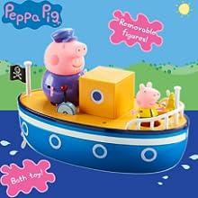 Peppa Pig 05060 Grandpa Pig Bain Time Boat