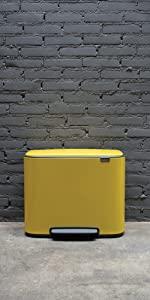 brabantia bins; pedal bins; kitchen bins; ; yellow bin; kitchen recycling bins; bins recycling