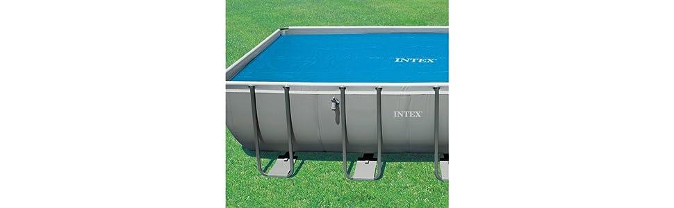 Intex 29028 - Cobertor solar para piscinas rectangulares 400 x 200 ...