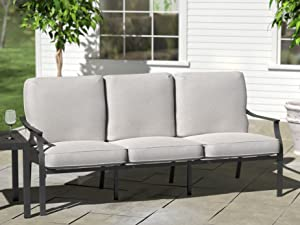 Ravenna Home Archer outdoor furniture collection dining table bench chairs with cushions