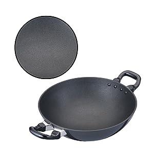 Hawkins Futura Non-Stick Kadhai Deep-Fry Pan