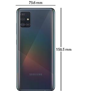 Samsung Galaxy A51 Dual SIM - 128GB, 6GB RAM, 4G LTE, Prism Crush Black