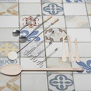 GARCIMA 20101 Hornillo paellero sobrecocina, Negro, 25 x 28 x 8.5 cm