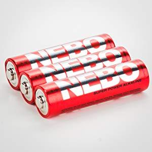 6413 Nebo-Rouge-Big Larry 400 lm COB DEL Lampe de poche 2 Modes /& rouge clignotante