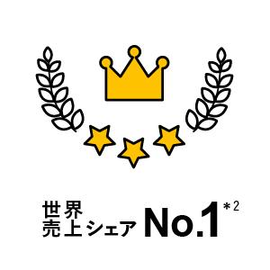 世界売上シェアNo.1
