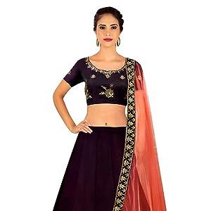01843ee20 Shree Impex Women s Embroidered Velvet Lehanga Choli Set ...