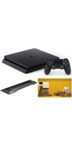 PlayStation 4 ジェット・ブラック 500GB【Amazon.co.jp限定】アンサー PS4用縦置きスタンド 付&オリジナルカスタムテーマ 配信