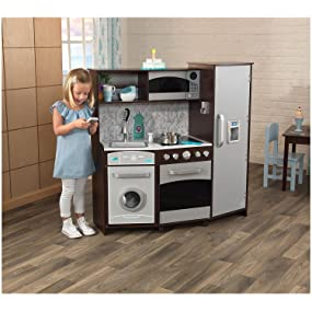 Amazon Com Kidkraft Large Play Kitchen With Lights Sounds