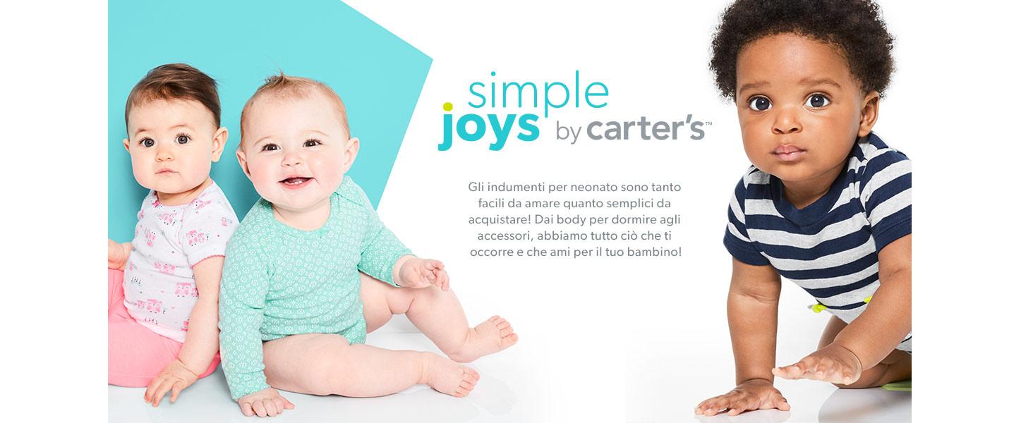 confezione da 6 Simple Joys by Carters Baby 12 Months Body a maniche corte Blue//Gray