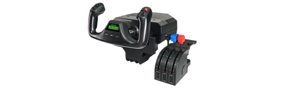 Logitech G Saitek PRO Flight Yoke System - Sistema de control para simuladores, negro