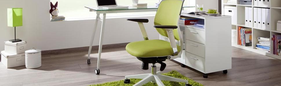 hjh OFFICE 657260 silla de oficina PORTO MAX HIGH tejido / tejido de malla negro, apoyacabezas, soporte lumbar, apoyabrazos, cromado, estable, alta ...