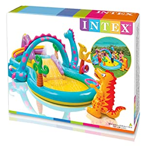 Intex 57135 Dinoland Play Center Water Pool With Water Spray