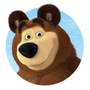 Masha, masha and the bear, bear, doll, toys, plush