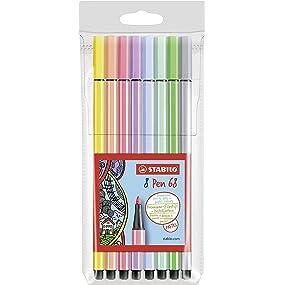 Rotulador STABILO Pen 68 - Estuche con 8 colores: Amazon.es: Oficina y papelería