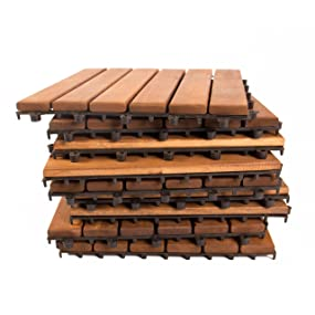Vanage - Tarima de madera, set de 18, madera de acacia, aprox. 30 ...
