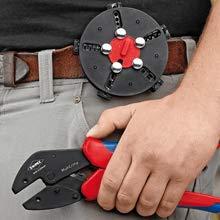 Posición de conmutación: doble la palanca de servicio para una posición paralela de la mandíbula.