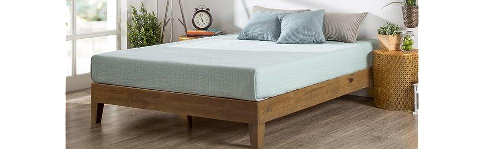 Amazon Com Zinus 12 Inch Deluxe Wood Platform Bed No