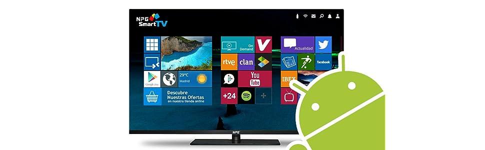"""NPG S400DL24F - TV D-LED 24"""" HD TV 1080p Smart TV Android [Clase de eficiencia energética A+]: Amazon.es: Electrónica"""