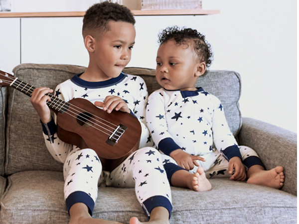 Moon and Back by Hanna Andersson Baby//Toddler Boys and Girls One-Piece Organic Cotton Footed Pajama