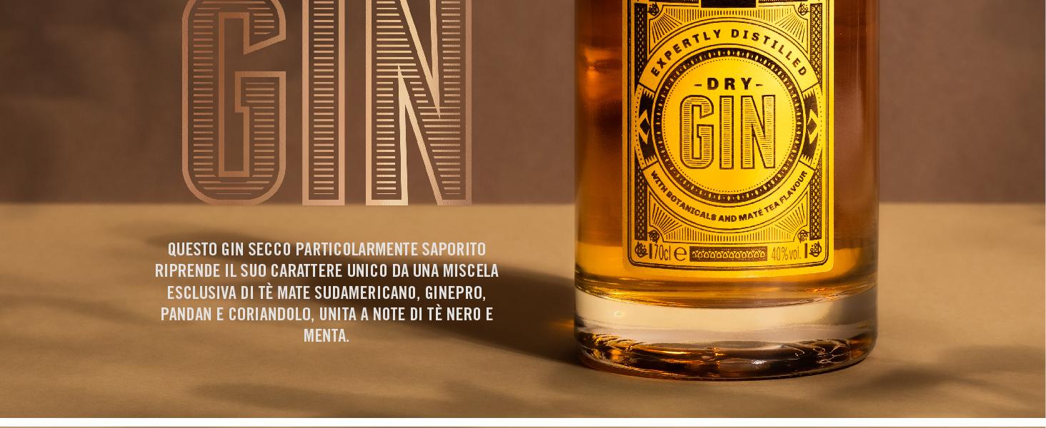 Questo gin secco particolarmente saporito riprende il suo carattere unico da una miscela esclusiva