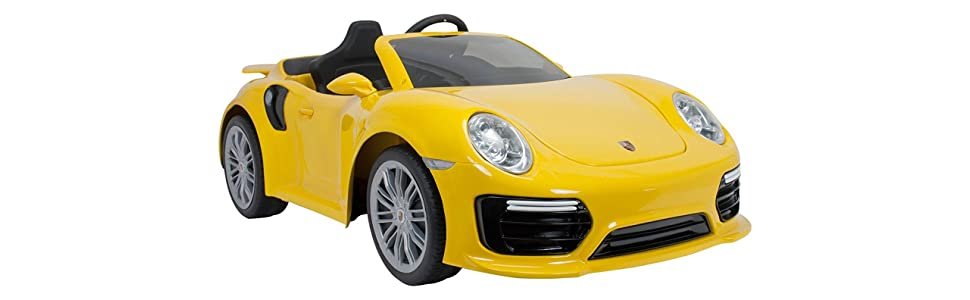Coche Porsche 911 Turbo S 6V Imove Special Edition amarillo