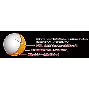 LEZAX(レザックス) ゴルフボールAGC 2ピース 1ダース(12個入り) ネオンオレンジ AGBA-4714 OR ネオンイエロー AGBA-4714 YE ボール構造