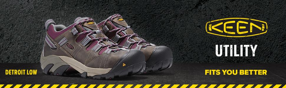 Amazon.com: Zapato de acero para trabajo KEEN Utility para ...