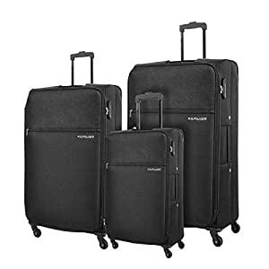 Kamiliant By American Tourister Luggage Trolley Bags For Unisex, 3 Piece - Black