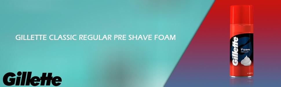 Gillette Classic Regular Pre Shave Foam