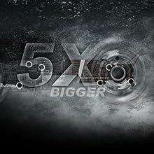 Cinco veces más grande que otros sonido más fuerte, más resonancia y mayor calidad