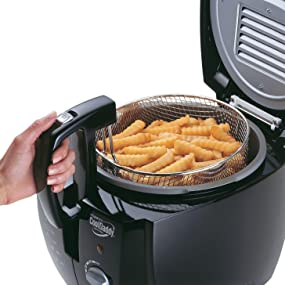 Presto 05442 CoolDaddy Cool-touch Deep Fryer Black