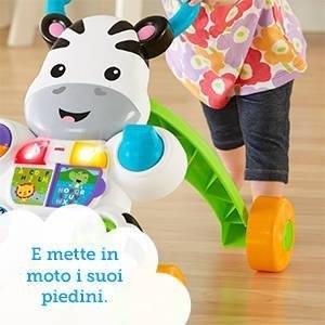 Fisher-Price Zebra Primi PassiCon due modi di giocare, la Zebra cresce insieme al bambino dal gioco