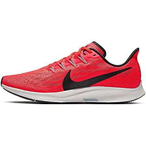 Nike NIKE AIR ZOOM PEGASUS 36, Men's Running Shoes, Black (Bright Crimson/Black-Vast Grey 600)