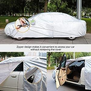Basics B/âche automobile argent/ée r/ésistante aux intemp/éries Plastique PEVA et coton SUV jusqu/'/à 515/cm