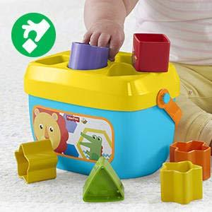 ​Classic stacking and sorting fun that introduces baby to shapes, colors and more!